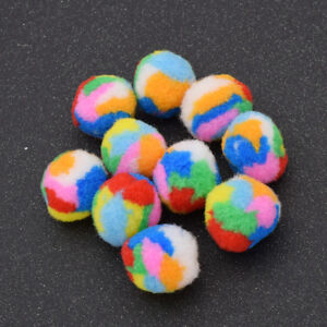 Colorful Cat Toys Soft Ball Toys for Cats Kitten Puppy Dog Pet Chew Toys