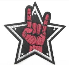 PATCH ECUSSON BRODE MAIN DOIGT SIGNE VICTOIRE BIKER ROCK CHOPPER MOTARD