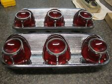 1961 Pontiac Bonneville Tail Light RH & LH Bezels with Lens Rare Find Revised !!
