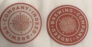 Indeed Brewing Company Beer Coasters X2 Wisconsin Milwaukee New