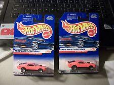 1998 HOT WHEELS FIRST EDITIONS LOT OF 2 #670 MUSTANG MACH I ORANGE CAR TOUGH CAR