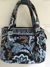 "Vera Bradley Mandy ""Java Blue"" Handbag Clutch Wallet Small Tote Vintage VB 2006"