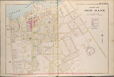 1889 RED BANK, THROCKMORTON, MONMOUTH COUNTY, NEW JERSEY, COPY PLAT ATLAS MAP