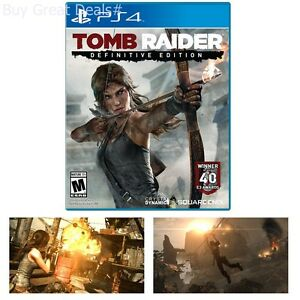 Tomb Raider: Definitive Edition For PlayStation 4 New Ps4 Games Factory Sealed