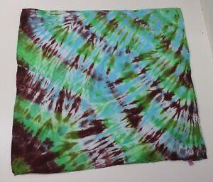 """Tie Dye XL Bandana 24"""" x 24"""" Blue Mud Creek 100% cotton"""