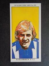 West Bromwich Albion BRENDAN BATSON football card Sun Soccercards No 360