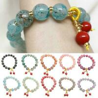 Frauen Mode bunte Stein Armband Schmuck Pnedant Geschenk mehrfarbig A8R4