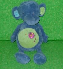 "Fiesta Baby ELPHANT RATTLE PLUSH Stuffed Animal Ladybug Embroidery 12"" tall"