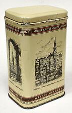 Alte Blechdose Walter Messmer Kaffee Hamburg, lithographiert H 14 cm, um 1935