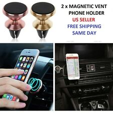 2Pk Car Mount Magnetic Air Vent Stand GPS Cell Phone Holder iPhone 7 Plus 6S 6 5