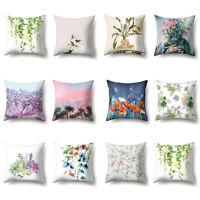 GI- US_ ALS_ Flower Leaf Plant Throw Pillow Case Home Car Decor Sofa Bed Cushion