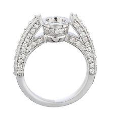 14k White Gold Diamond Engagement Ring Setting Semi Mount 1.10ct Size 6.5