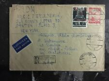 1919 Ciechanowiec Poland Post WWI Registered Cover to Staten Island USA Judaica