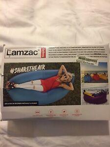 Lamzac Fatboy Stoel Indoor Outdoor Camping Inflatable Air Chair, Aqua Blue