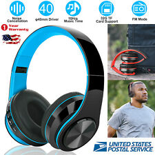 5.0 Foldable Memory-Protein Earmuffs Wireless Headset Headphones MMC Port w/Mic
