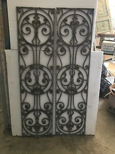Antique Mediterranean Silver Window (Pair)