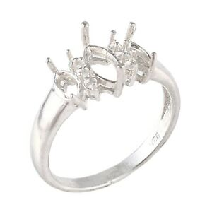 Semi Mount Engagement Ring 925 Sterling Silver Jewelry Choose Your Ring Size