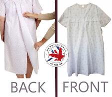 New Ladies 'No Button' Practical Polycotton Hospital/Nursing Home Night Dress