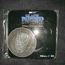 NEW Black Panther Opening Night Fan Event Promo Coin RARE Regal Avengers Endgame
