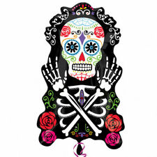 HALLOWEEN SUPERSHAPE DAY OF THE DEAD FOIL PARTY BALLOON FIESTA SUGAR SKULL