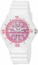 Casio LRW200H-4CV, Women's Analog White Resin Band, 100 Meter WR, Date