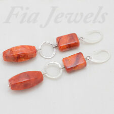 ORECCHINI CORALLO MADREPORA ARGENTO EARRINGS MADREPORA CORAL SILVER