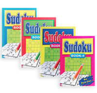 SUDOKU PUZZLE BOOK QUIZ CHALLENGE BRAIN TEASER TRIVIA HOBBY GAMES PAPERBACK