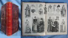 """Reliure du Journal  """"La MODE ILLUSTRÉE – Journal de la Famille"""", pour année 1893"""