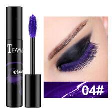 Makeup Mascara Waterproof No Clumping Volumenverlängerende Wimperntusche Lila