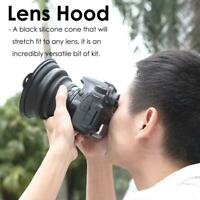 Reflection-free Collapsible Silicone Lens Hood for Camera Phone kit (Small)