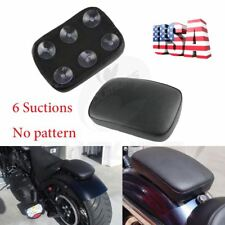 Rear Pillion Passenger Pad Seat 6Suction Cup For Harley Davidson Bobber Chopper
