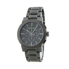 New Burberry BU9354 The City Black Dial Chronograph Bracelet Men's Watch