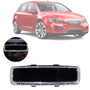 Bling Diamond Car-encrusted Rearview Mirror Crystal Decor Cover Auto Accessories