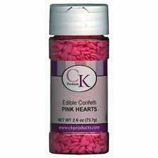 Pink Hearts Valenine Edible Confetti Sprinkles from CK #11105 - NEW