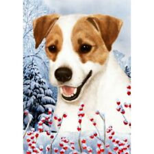 Winter Garden Flag - Jack Russell Terrier 150241