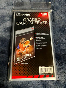 100 Count-Ultra PRO-1 Pack of 100 Resealable Graded Card Bags BGS PSA SGC