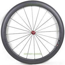 Clincher 50mm depth front Carbon Fiber wheels Road Bicycle Wheelset Racing Set