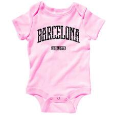 FCB Spain Espana Futbol Baby Infant Creeper Romper NB-24M Barcelona One Piece