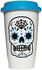 67098 Blue Sugar Skull Tumbler Mug Day of the Dead Dia De Los Muertos Cup Gift