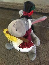 Disney Winnie Pooh Eeyore Christmas 2003 Beanbag Plush Doll with rattle
