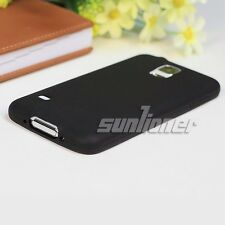 Black Gel Silicone Case Cover Skin For Samsung Galaxy S5 SV, i9600 G900F G900A