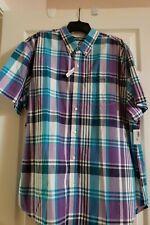 Old Navy Men/'s Gray /& Blue Stripe Cotton Polo Short Sleeve Shirt size XXL NWT