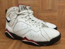 RARE🔥 Nike Air Jordan VII 7 Retro White Black Cardinal Red Bronze 10 304775-104