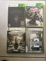Xbox 360 Games Lot Of 4 Naval Assault Skyrim Dead Islam Ghost Recom Completed