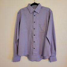 Eton Contemporary Men's Patterned Dress Shirt  Size 41 / 16 Long Sleeve Altered*