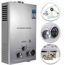 12L Propane Gas Hot Water Heater LPG Tankless Instant Boiler Stainless Steel