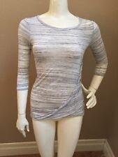Lucky Brand Denim Co. VINTAGE Heather Gray Rayon Space Dye Draped Shirt S