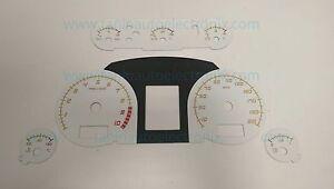 2004 - 2008 Lamborghini Gallardo Superleggera Speedometer Gauge Overlay White