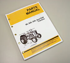 Parts Manual For John Deere 80 820 830 Tractor Catalog Assembly Exploded Views