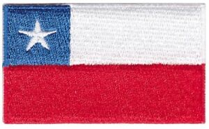 Chile Flag Small Iron On /Sew On Patch Badge 6 x 3.5cm Republic of Chile AIRSOFT